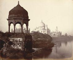 Taj Mahal from river side, 1860