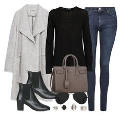 """""""Style #9410"""" by vany-alvarado ❤ liked on Polyvore featuring Topshop, Zara, T By Alexander Wang, Yves Saint Laurent and Ray-Ban"""