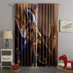 Shop Curtains on Westbedding Boys Room Curtains, Cool Curtains, Custom Curtains, Panel Curtains, Shop Window Displays, Blackout Curtains, Overwatch, Living Room Decor, 3d Printing
