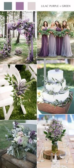 purple wedding ideas lilac purple and greenery wedding color ideas Wedding Cerem Purple And Green Wedding, Mauve Wedding, Purple Wedding Colors, Wedding Flowers, Lavender Wedding Decorations, April Wedding Colors, Lavender Wedding Theme, Unique Wedding Colors, Unique Weddings