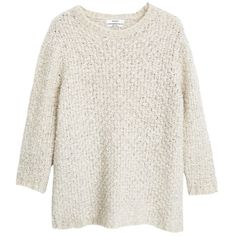 Mango Cable Knit Jumper, Pastel Grey found on Polyvore featuring tops, sweaters, chunky cable knit sweater, cableknit sweater, long sleeve tops, long sleeve sweaters and cable sweater