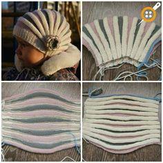 Accordion Beanie Making - Accordion Hat Making - Knitting 2019 - 2020 Diy Crafts Knitting, Diy Crafts Crochet, Loom Knitting, Knitting Projects, Hand Knitting, Baby Knitting Patterns, Knitting For Kids, Crochet Patterns, Hat Patterns