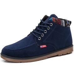 Estilo britânico casual casual botas de tornozelo para homens Botas De  Tornozelo b48ea3bc756
