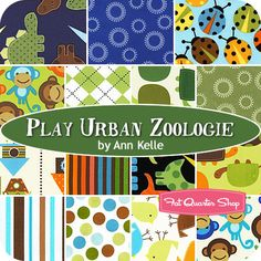 I'd like to make a nice picnic quilt - bugs, monkeys, dinosaurs, turtles? I think this one is my favorite set.