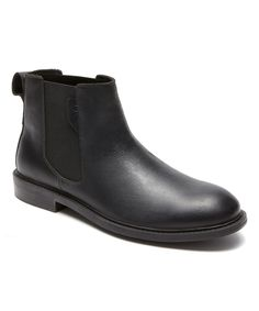 Black Graham Leather Chelsea Boot - Men