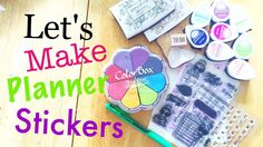 DIY Planner Stickers Using Stamps and Avery Labels \\ Planning on a Budget