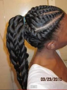 Flat to two strand twist. So Cute!