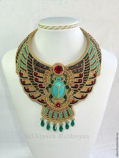 Купить Колье «Египетская богиня» - колье, Праздник, праздничное украшение, праздничное колье, подарок, на выпускной