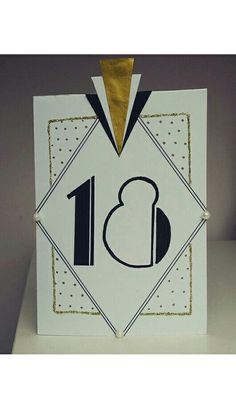 My 18 th birthday invitation #invitation #graeatgatsby #artdeco #gold #18 #birthday #card #diy