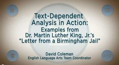 Text Dependent Questions, English Language Arts, Martin Luther King, Teaching, Lettering, Youtube, English People, King Martin Luther, Drawing Letters