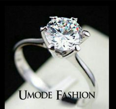 LOOK!!!!!! A MOST EXQUISITE 18K WHITE GOLD FILLED SOLITAIRE TRIPLE AAA CZ RING SIZE 8 3 bonus mystery gifts with get it now bid.