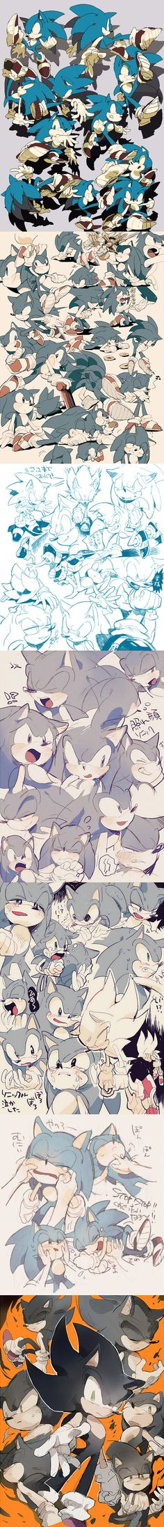 Sonic sketch by aoki6311 on deviantART