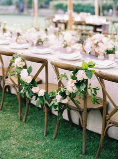 Tara Guerard Soiree by Perry Vaile Bride and Groom chairs decorated