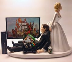 Wedding Cake Topper This wedding cake topper is perfect for the Grand Theft Auto fanatic in your life! All wedding cake toppers can be