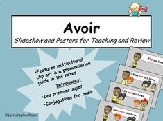 Avoir Bundle: Worksheets, Slideshow, Word Wall Cards, Oral Language, and more! French Sentences, French Verbs, Simple Sentences, Core French, French Teacher, Student Learning, Worksheets, Language, Clip Art