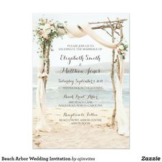 Beach Arbor Sunset Wedding Invitation If sea and sand are in your wedding plans these are some beach wedding ideas. Lavender Wedding Invitations, Wedding Reception Invitations, Acrylic Wedding Invitations, Beach Wedding Reception, Wedding Day, Dream Wedding, Rustic Wedding, Elegant Wedding, Nautical Wedding