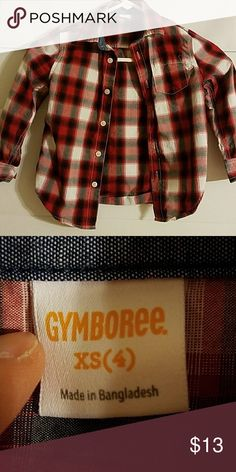 Gymboree Red Plaid Button Up Shirt Size 4 Gymboree Red Plaid Button Up Shirt Size 4 Gymboree Shirts & Tops Button Down Shirts