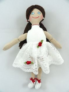 Ballerina Doll in White Tutu by JoellesDolls on Etsy