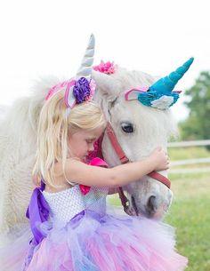 DDazzling Girls Unicorn Headband Unicorn Party Unicorn Birthday Princess Birthday Fantasy Unicorn Unicorn Photo Prop