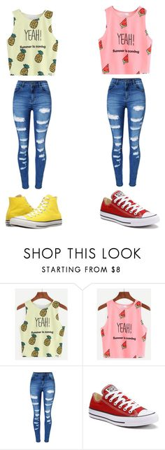 """""""Untitled #18"""" by lemonitadr on Polyvore featuring WithChic and Converse"""