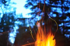 campfire long exposure