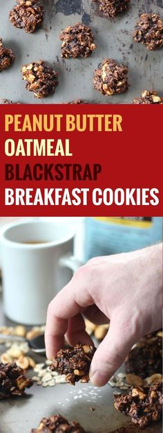 These healthy breakfast cookies are made with creamy peanut butter, rolled oats and blackstrap molasses. They taste like a decadent treat, but are healthy enough to munch on any time of day. I made my first batch of these cookies over a month ago, intendi
