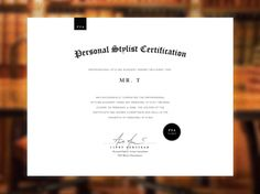 Professional Styling Academy Personal Stylist Certificate   Designed by Graticle.com