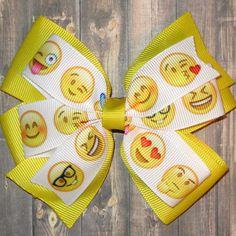 Emoji Hair Bow / Emoji Bows / Emoji Gifts / Emoji Party / Emojis / Emoticons…