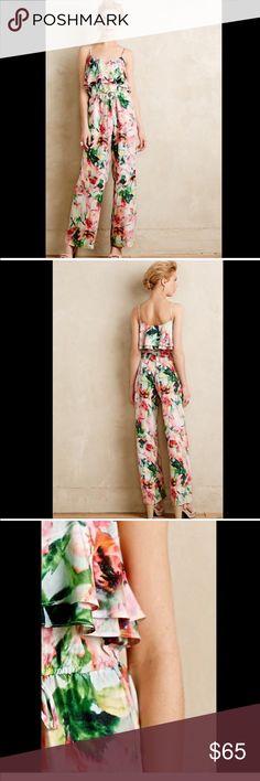Anthropologie Floral Jumpsuit NWOT Beautiful Anthro floral jumpsuit NWOT. Size XS. Anthropologie Pants Jumpsuits & Rompers