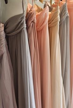 Bridesmaids dress colors. iThink iLike these colors more.