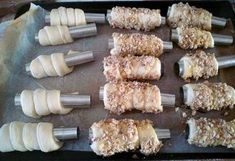 Trdelnicky - recept Cooking Tips, Cooking Recipes, Cream Horns, Cannoli, Christmas Cookies, Ham, Deserts, Food And Drink, Sweets