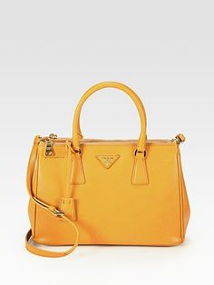 Prada - Saffiano Lux Double Zip Tote - love to add this color to my collection