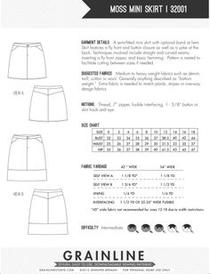 Grainline Stuio Moss Shirt pattern $8.50