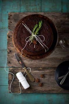 Chocolate Fruit Cake - food photography and food styling