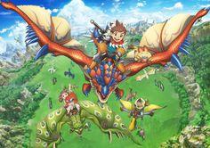 Anunciadas tres nuevas voces para el Anime Monster Hunter Stories: Ride On.