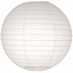 """10"""" White Even Ribbing Round Paper Lantern -$1 each! It seems buying online is always cheaper."""
