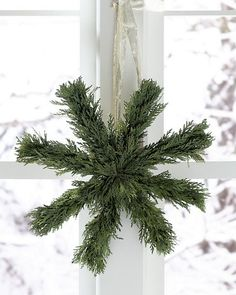 Preserved-Cedar Holiday Star Wreath