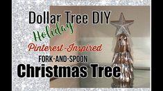 Dollar Tree DIY | Pinterest Inspired Shiny Christmas Tree | Holiday Decor DIY | The Green Notebook