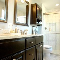 Chic Bathroom Remodel add the cabinet over the toilet