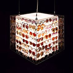Chandelier of eyeglasses...would be a cool piece of art for the office...