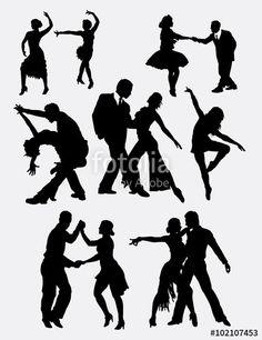Tango salsa 2 male and female dancer silhouette — Ilustração de Stock Dance Images, Dance Pictures, Tango, Disco Theme Parties, Virgo Art, Arte Hip Hop, Dance Silhouette, Dancing Drawings, Female Dancers