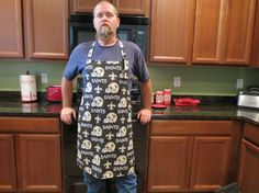NEW ORLEANS SAINTS Tailgate Apron by KreationsGalore on Etsy, $35.00