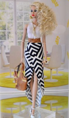 """"""" Monaco Style """" Blue Angel Poppy Parker - Expolore the best and the special ideas about Fashion dolls Barbie Fashionista, Barbie Sewing Patterns, Clothing Patterns, Fashion Royalty Dolls, Fashion Dolls, Fashion Sewing, Diy Barbie Clothes, Barbie Outfits, Barbie Style"""