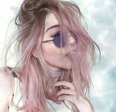 Cabelo rosa pastel ombré