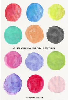 Download these free watercolor circle textures here!