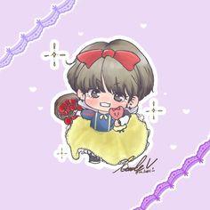 V Chibi, Bts Drawings, Vmin, Bts Memes, Foto E Video, Princess Peach, Taehyung, Kawaii, Fan Art