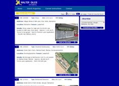 Walter Giles Euro Commercial have just launched a new website www.waltergiles.co.uk and using CPD to provide their property search facilities.