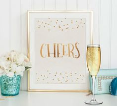 CHEERS BAR SIGNWedding SignCheers And by PrintableStylish on Etsy