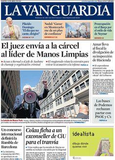 Portada de 'La Vanguardia' del martes 19 de abril 2016