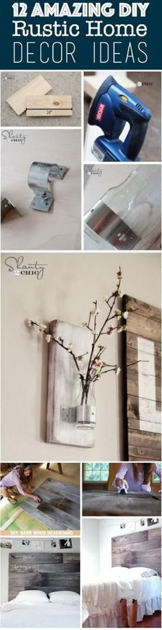 12 Amazing DIY Rustic Home Decor Ideas by crazy sheep
